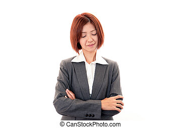 Depressed business woman.