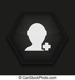 Vector creative icon on black background. Eps10