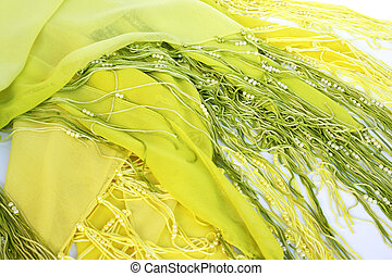 Sarong with beads closeup picture.