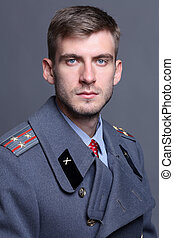 Russian military officer - portrait of Russian military...