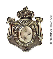 Old blazon traditional emblem isolated with clipping path...