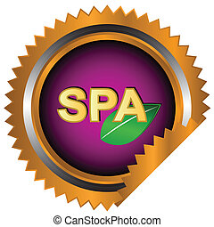 Spa logo - Unique spa logo on a white background