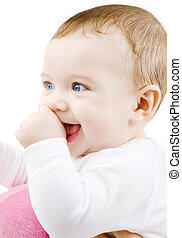 baby - bright picture of adorable baby boy over white
