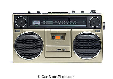 Stylish Bronze Boombox - A stylish bronze boombox radio from...