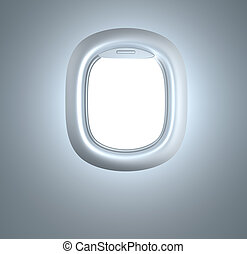 Porthole Plane illuminator In white colors