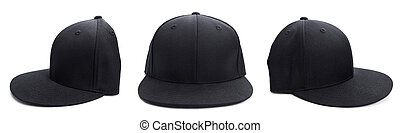 Black Hat at Different Angles - Three shots of a fitted...