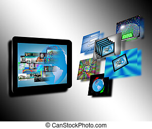 Abstraction tablets - Abstraction which shows tablets and...