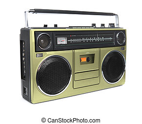 The Golden Boombox - A stylish gold boombox radio from the...