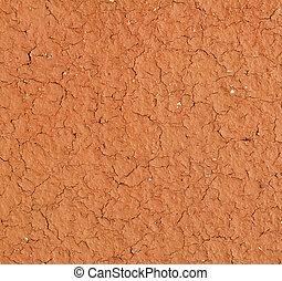 Terracotta - Light brown terracotta texture closeup (design...