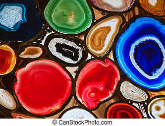 Agate - Translucent mosaic made with slices of agate stone