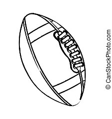 american football over white background vector illustration