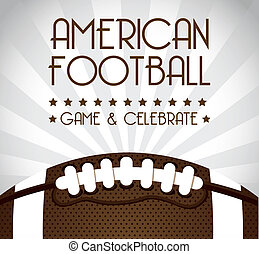 american football over gray background. vector illustration