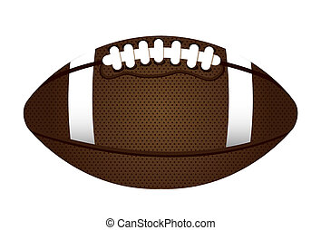 american football over white background. vector illustration