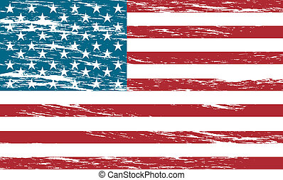 united states flag grunge background vector illustration