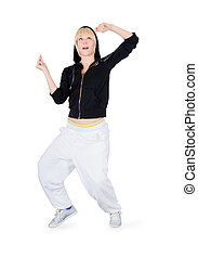 Hip-Hop Dancer Dancing Teenage Girl in action