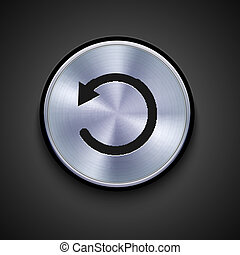 Clip Art Vector of Circle Metal Reload Button. Applicated for HTML ...