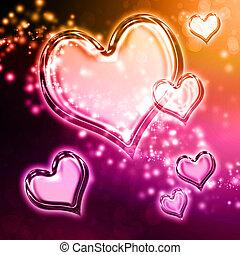 valentina, cuori, fondo