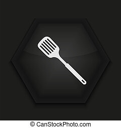 Vector creative icon on black background Eps10
