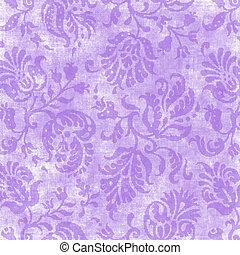 Lavender Floral Tapestry - Worn lavender floral tapestry...