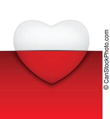 Valentine Day Heart on White Background