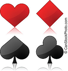 Vector illustration of playing cards suits