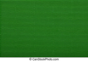 Texture of green corrugated paper for background used