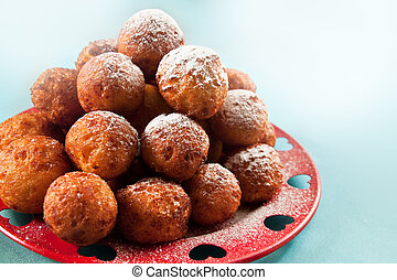 Balls deep fried - Crispy cheese balls deep fried in...