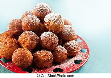 Balls deep fried - Crispy cheese balls deep fried in...