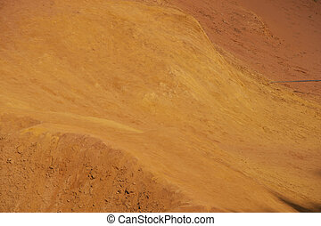 ochre ground - color ground in the ochre canyon in the...