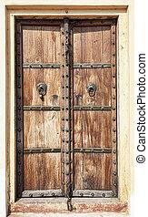 Old wooden door Rajasthan,India