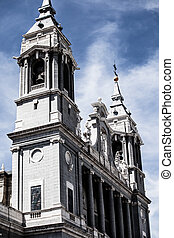 Beautiful architecture- Cathedral Almudena, Madrid, Spain