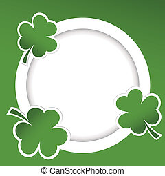 Shamrock, illustration, card, St, Patrick's, Day