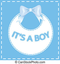 Baby shower invitation card. It's a boy