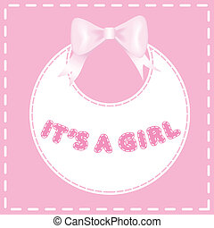 Baby shower invitation card Its a a girl