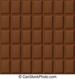 Chocolate bar seamless pattern