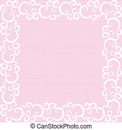 Lace frame net pattern. Wedding card