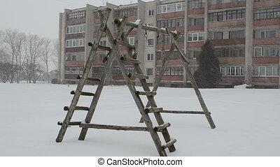 child playground winter