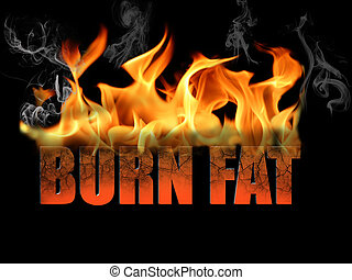 Words Burn Fat - This conceptual digital art is the words...