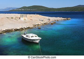 Adriático, Croácia, mar, costa