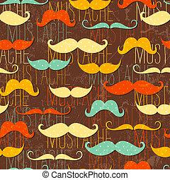 bigote, seamless, patrón