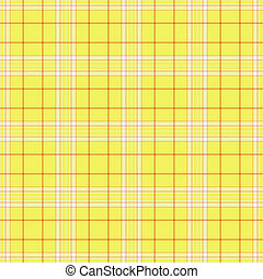 Seamless Yellow Plaid - Seamless plaid in yellow, white, and...