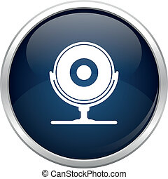 Blue webcam icon