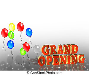 Grand Opening Sign Template - Illustration composition for...
