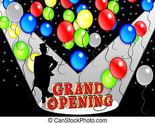 Grand Opening Party invitation. - Illustration composition...