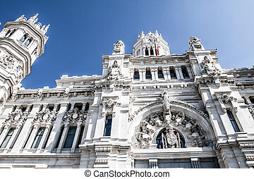 Palacio de Comunicaciones at Plaza de Cibeles in the city of...