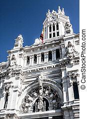 Palacio de Comunicaciones at Plaza de Cibeles in the city of...