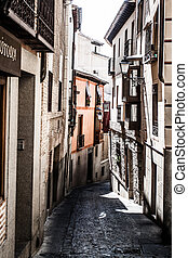 Medieval streets of Toledo, Spain ( HDR image )