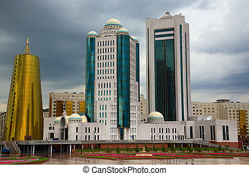 City landscape - Modern buildings. Astana, capital of the...