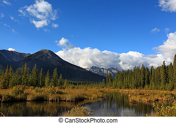 vermillion lakes, banff alberta - vermillion lakes in banff...