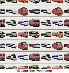 seamless train pattern,cartoon vector illustration